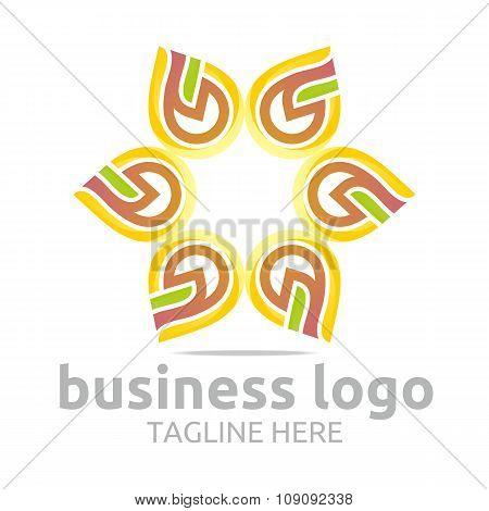 Logo star symbol icon vector