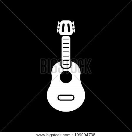 The guitar icon. Music and guitarist, musician symbol. Flat