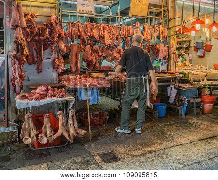 Street vendors in Hong Kong