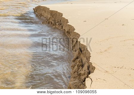 Sand Structure While Scouring By Water