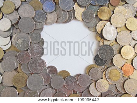 Coins Texture For Background