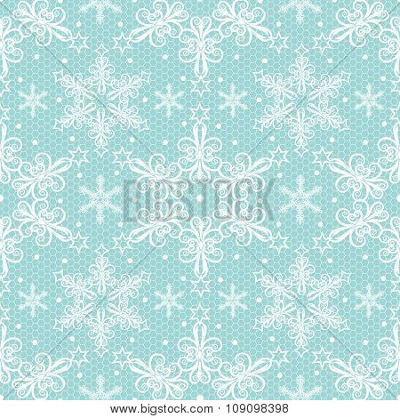 Christmas lace pattern
