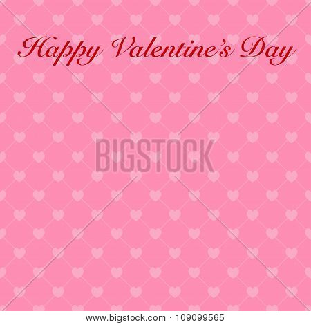 Abstract Valentine's Day Card With Hearts For Your Design. Vector Illustration.