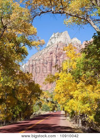 Zion Canyon Scenic Drive In Autumn