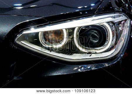 Close Up Of Modern Car