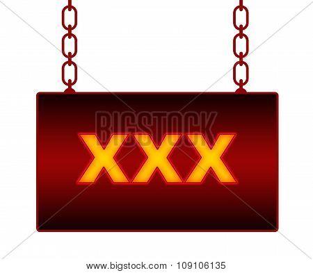 XXX Neon Signboard