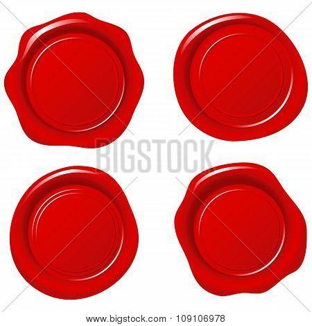 Shiny Red Wax Seals