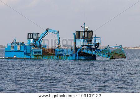 blue dredger
