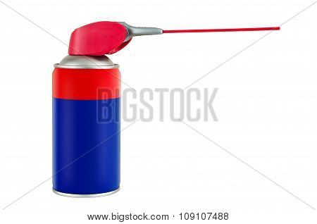 Spray Can With Plastic Pipe