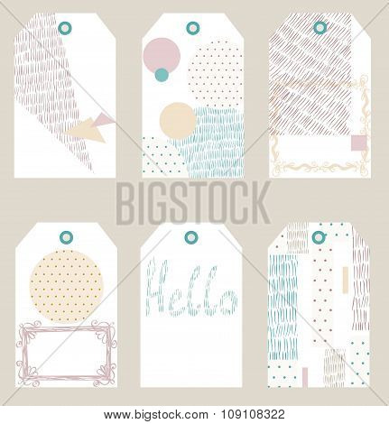 Vector gift tags
