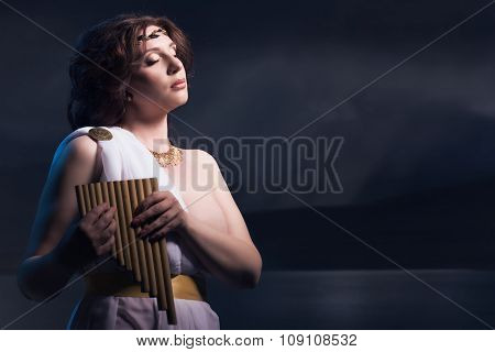 Aphrodite Styled Beautiful Woman