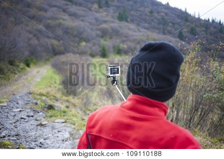 Woman Shoots Video Of His Adventures.