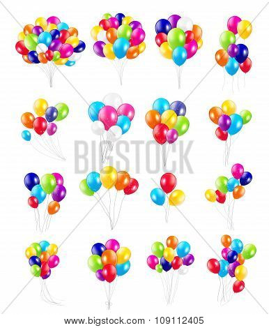Set of Colored Balloons, Vector Illustration.