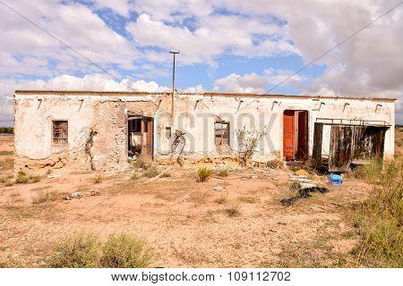 Abandoned Desert House Exterior