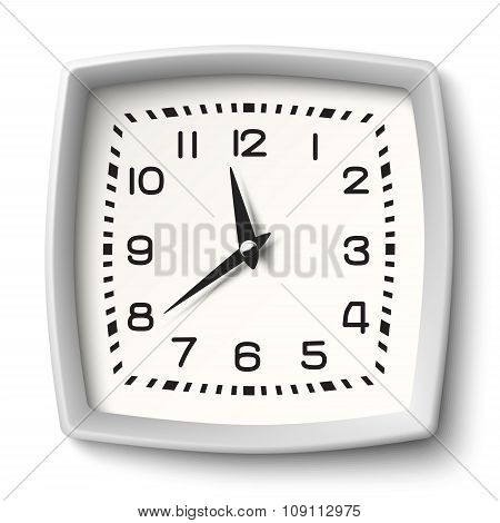 Classic Station Wall Clock With White Body Isolated