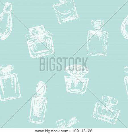Vector Perfume Bottles Seamless Pattern