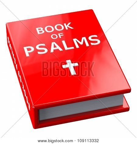 Red Book With Words Book Of Psalms