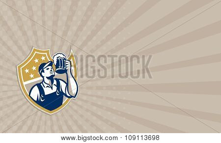 Business Card Barman Bartender Beer Mug Retro