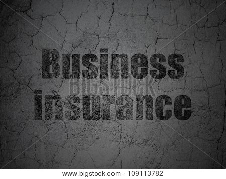 Insurance concept: Business Insurance on grunge wall background