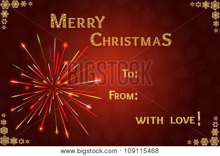 Merry Christmas 2016 Vector illustration.