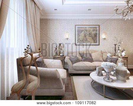 Living Room Art Deco