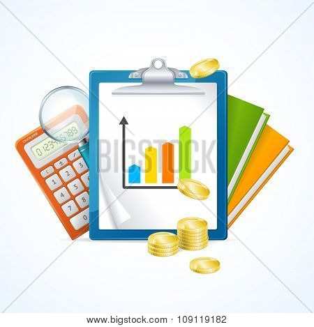 Business Finance Concept. Vector
