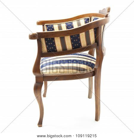 Retro Armchair With Striped Upholstery