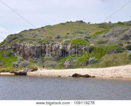 Cross in Nature: Australian Coastal Dune