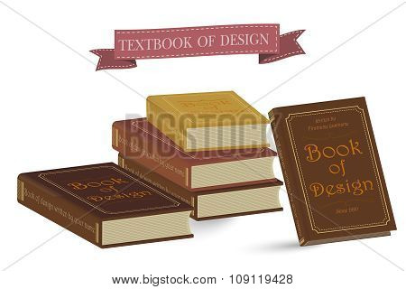 Books Vector Illustration Isolated.School Books Education, University,College symbols of knowledge
