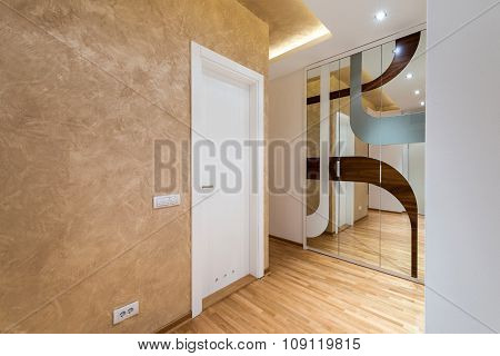 Anteroom Interior With Mirror Closet
