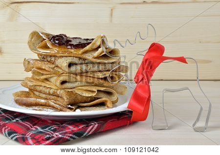 Pancakes And Christmas Decoration