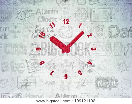 Time concept: Clock on Digital Paper background