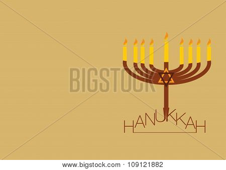 hanukkah background with copy space