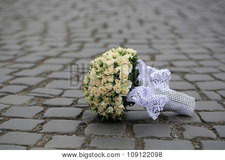 Wedding Flowers On Road