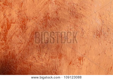 Plastered Terracotta Wall