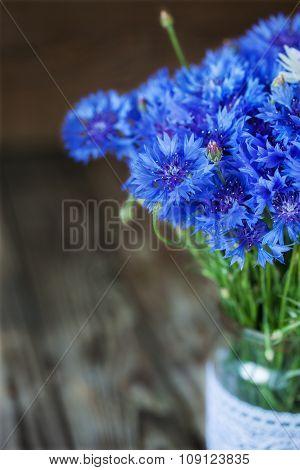 A Bunch Of Beautiful Summer Flower Of Cornflower.