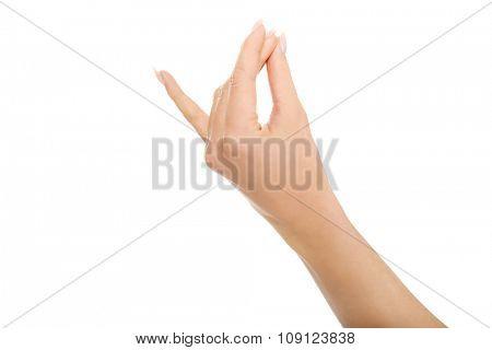 Yoga sign, isolated on white