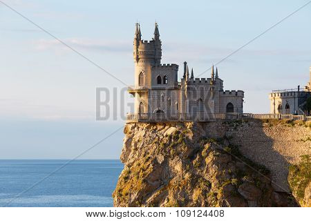 Castle Swallow's Nest On A Cliff Above The Black Sea, Crimea, Russia