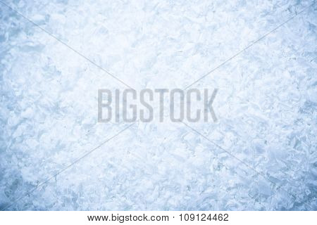 Beautiful Snow Background Close Up. Christmas Background