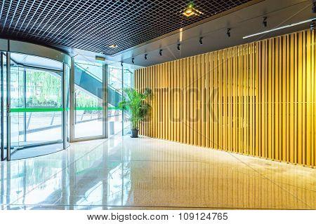 empty room in modern building
