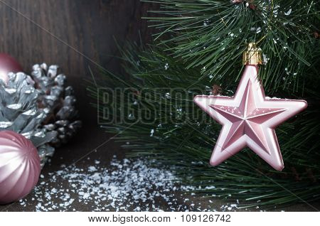 Christmas Star On The Christmas Tree