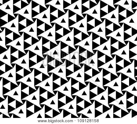 Vector modern seamless geometry pattern triangles black and white abstract