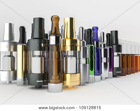 Atomizers, clearomizers and ejuice.