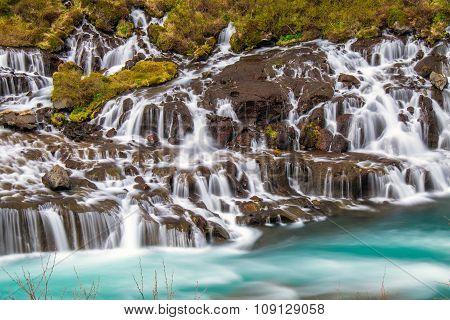 The amazing Hraunfossar in Iceland
