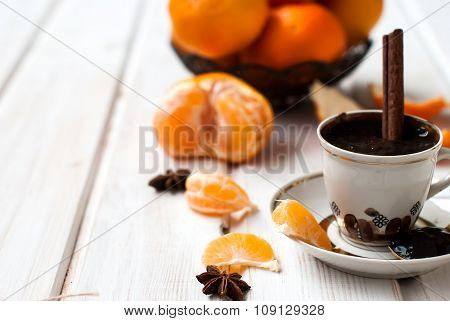 Hot Chocolate With Cinnamon Withorange
