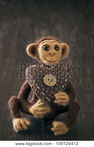 Homemade toy monkey