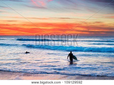 Surfing On Portugal Coast