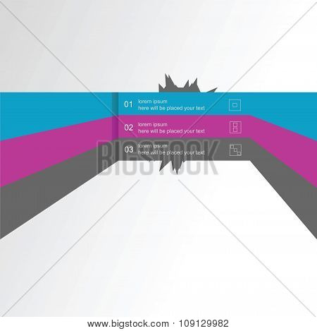 Vector infographics linear element, a template for the design of the website in three parts