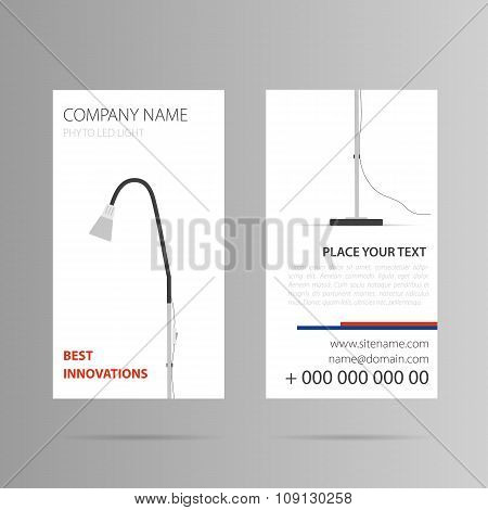 Vertical business card with floor lamp