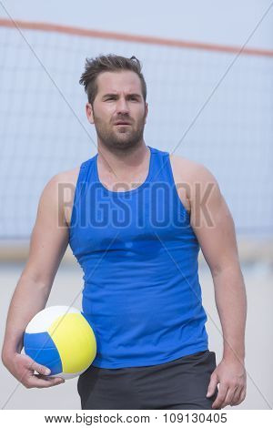 Beach Volley Male Player.